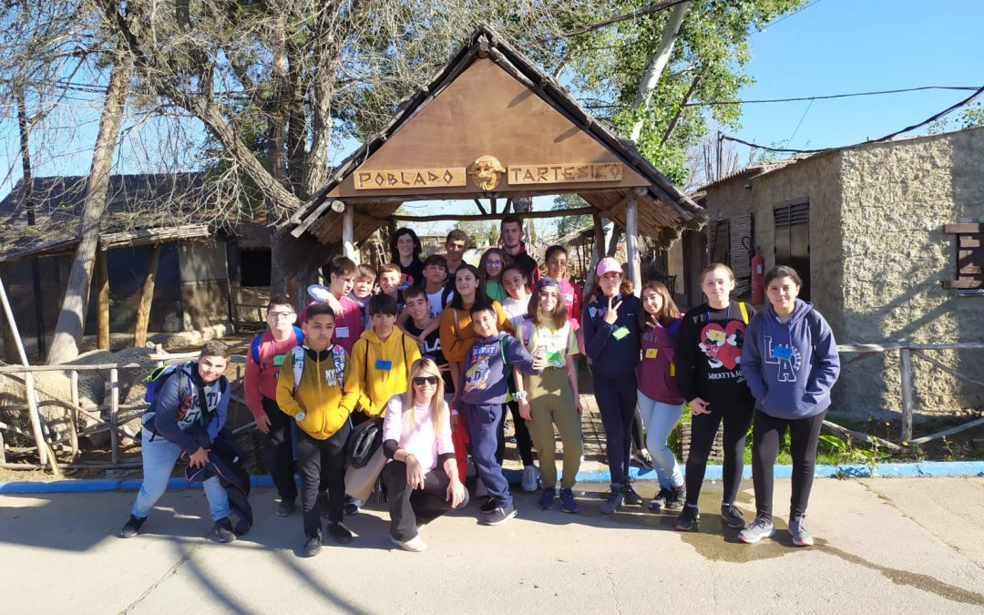 Visita de los alumnos y alumnas de 1º de ESO del IES Odón Betanzos de Mazagón, Huelva. 10/03/2020.