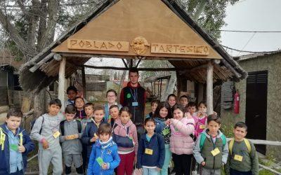 Visita del CEIP Emilio Pérez Molina de Paymogo.  Alumnos y alumnas de Infantil primer y segundo ciclo de primaria. El 4 de Marzo de 2020.